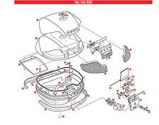 Z661A RICAMBIO CHIAVE SERRATURA VALIGIA CON BOCC per GIVI BAULE V46 e V46 TECH