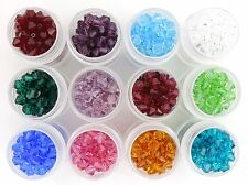 BIRTHSTONE MIX SWAROVSKI CRYSTAL 180 4mm Loose Beads 5328/5301 Bicones 12 Colors