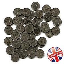 A set of (x50) 1965 British Cupro-Nickel ELIZABETH II SIXPENCE Coins