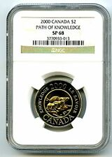 2000 CANADA $2 TOONIE NGC SP68 PATH OF KNOWLEDGE LOW POPULATION=3