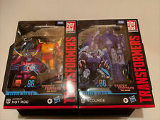 Transformers Studio 86 Voyager Set Series Hot Rod 86-04 & Scourge 86-05 In Stock