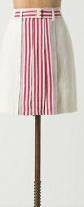 Koto Bolofo Limited Edition Linen Brooks Mini Skirt Size 12 NW ANTHROPOLOGIE Tag