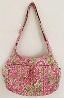 """VERA BRADLEY Women""""Petal Pink""""Retired Purse Shoulder Bag Pink Green Floral"""