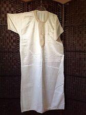 Men's Full Length Cream/off White Arab Lebanese Traditional Thawb Outfit Size M