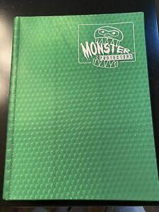 Monster Binder - 9 Pocket Trading Card Album - Holofoil Green - Holds 360 Yug
