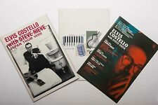 HTF ELVIS COSTELLO and STEEVE NIEVE 1999 Japan Tour Concert Program x2 Flyer Set