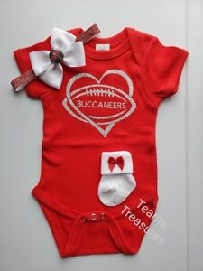 Buccaneers newborn/baby clothes girl Tampa bay bucs baby gift girl Tampa baby
