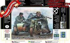 Master Box 35178 German Motorcyclists WWII Era (4 Figures) plastic kit 1/35
