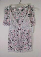 Marilyn Monroe 2 pc Lingerie Cami & Shorts Pink Floral Sleepwear Set NWT Sz L