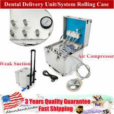 Portable Dental Mobile Rolling Case Delivery Unit 4 Hole Air Compressorsuction