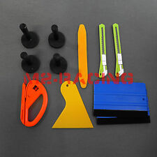 Elite Vehicle Wrap Vinyl Tools Kit Felt Squeegee Razor Wrapping Gloves 4 Magnets