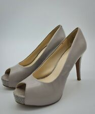 Nine west Qtpie Peep-Toe Pumps size 6 colour light grey
