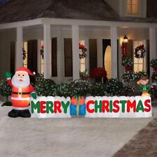 12 ft. Long Inflatable Merry Christmas Sign Christmas Inflatable