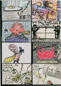 Manigk, Oskar(1934Berlin,lebt in Berlin/Ückeritz) Konvolut Mail Art /60 Arbeiten