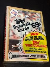RUBEN SIERRA  Rookie Card Showing On TOP 1987 Topps Baseball CELLO PACK Sealed