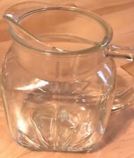 """Vintage Mid-Century Federal Glass Clear """"Star Burst""""  Pitcher ~ USA ~ Perfect"""