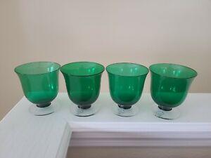Lenox Holiday Vogue Emerald White Wine Glasses Set of Four 8 oz