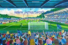 Adams Park Stadium Fine Art A4 Print - Wycombe Wanderers Football Club