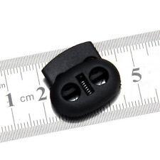 Arrêt cordon serre cordon 2 trous en plastique noir 10 pcs 5mm autobloqueurs