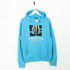 Vintage DC Big Logo Hoodie Sweatshirt Blue Small S