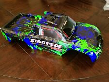 Traxxas Stampede Body / Shell Blue Green Black Pre-Painted VXL XL-5 - NEW COLOR!