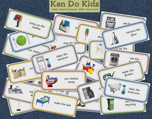 Home Chore Cards - Autism / Aspergers / Speech and Language / SEN / ASD