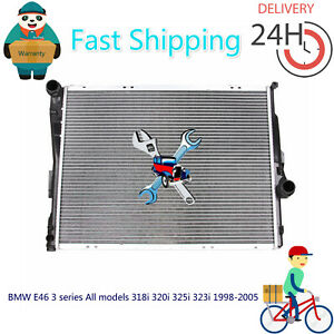 Premium Radiator BMW E46 3 series All models 318i 320i 325i 323i 1998-2005 AT/MT