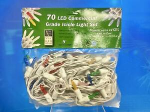 Vickerman 70 Light Multi-Colored M5 Twinkle Light Set on White Wire