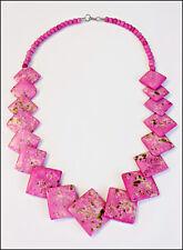 collier ethnique en os colorés bijoux Indien artisanat Bijoux Indien femme