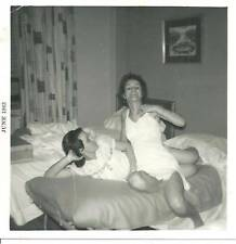 1960's lesbians girls laying on bed in underwear gay interest risque b&w photo