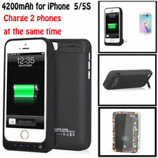 4200mah External Power Bank Battery Backup Charger Case Cover For iPhone 5 5S SE