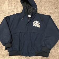Vintage Dallas Cowboys Chalk Line by Jerzees Windbreaker Jacket Adult Size XL
