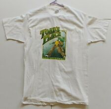 KISS Band PAUL STANLEY backside of TOAD'S PLACE CT White Concert T-Shirt L 1989