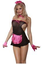 Süßes Zimmermädchen Maid Kostüm Exclusive - 5-teilig - Schwarz-Rosa Dienstmädche