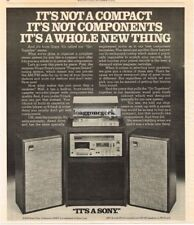 1978 Sony Go Together Component System Stereo Hi-Fi Vtg Print Ad