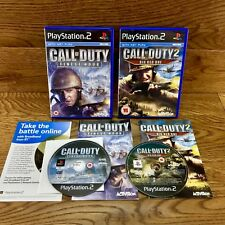 PlayStation 2 Video Game Call Of Duty 1+2 Finest Hour Big Red One Perfect Discs