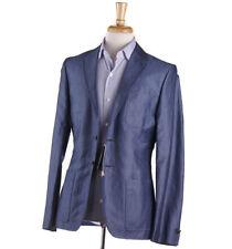 NWT $810 PAUL SMITH Chambray Linen-Cotton Blazer Slim 38 R (Eu 48) Sport Coat