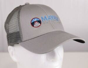 Mayfly Outfitters Jaws Logo Trucker Hat - Color Simms Granite