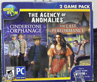 Big Fish The Agency Of Anomalies PC DVD-Rom Hidden Object 2 Game Pack NIP NEW