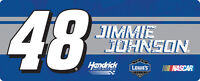 """NASCAR #48 Jimmie Johnson 3.5"""" X 9"""" Bumper Sticker Decal-New for 2016!"""