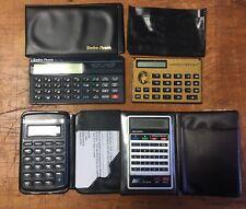 Lot of 4 Vintage Calculators Sharp El 8140 Radio Shack Ec-326 American Express