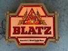 Rare NOS Vintage 1977 Blatz Beer Lighted Sign America's Greatest Light Beer