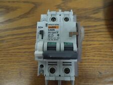 Merlin Gerin 60157 Multi 9 C60N Type D 5A 2p 240V Din Rail w/ Aux & Lockout Used