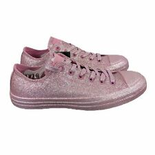 Converse Chuck Taylor All Star Low Top Pretty Pink Glitter Shoe Women's 10