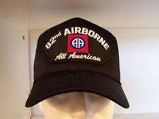 "#1402 82ND AIRBORNE ""ALL AMERICAN"" Black Ballcap Cap Hat"