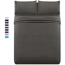 Bed Sheet Set Queen 1500 Thread Count 4pc - Soft Brushed Microfib