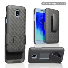 For Samsung Galaxy J3 Star J3 V 3rd Gen 2018 J3 Achieve Holster Clip Case BLACK