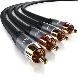 RCA Cavo HQ Stereo Audio, Coaxial/Cinch Adattatore, Connettori Maschio-Maschio