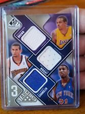 2009-10 SP Game Used 3S-BWC Shannon Brown Brandan Wright Wilson Chandler #68/125