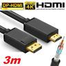 ✅3m Adapter Kabel Display Port zu HDMI DP auf HDMI Konverter Kabel 2K 4K✅NEU